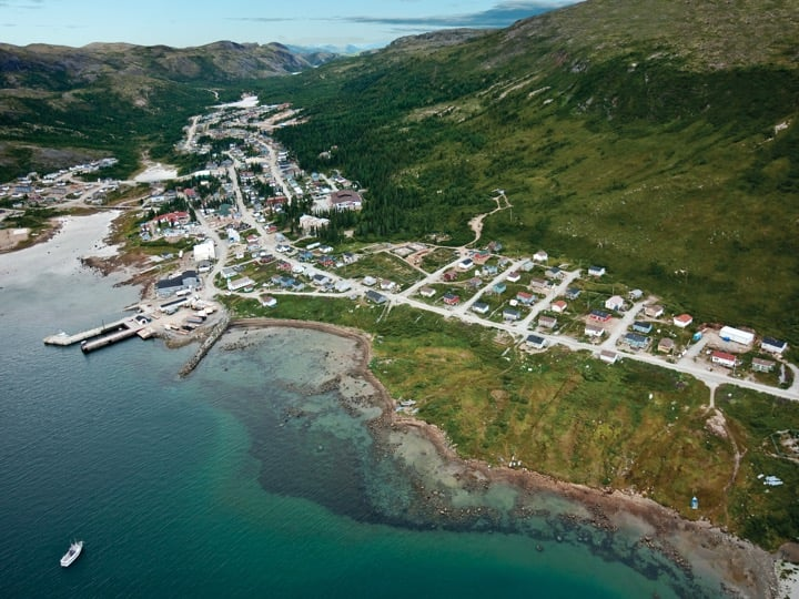 Nain as seen from above