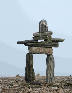 Inukshuk at Iipiutalik Point