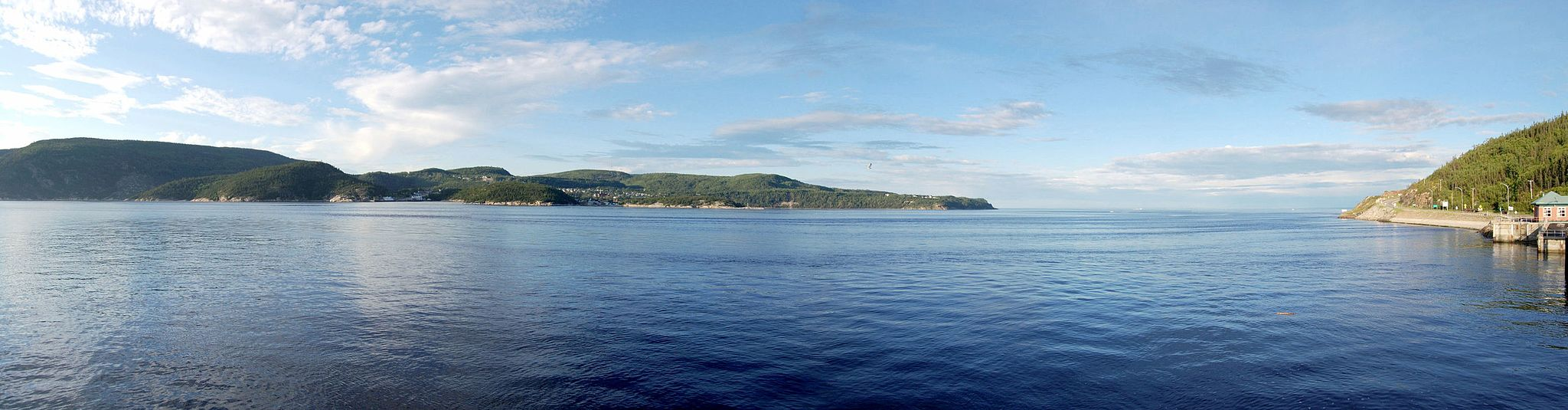 View of Tadoussac from Baie-Sainte-Catherine