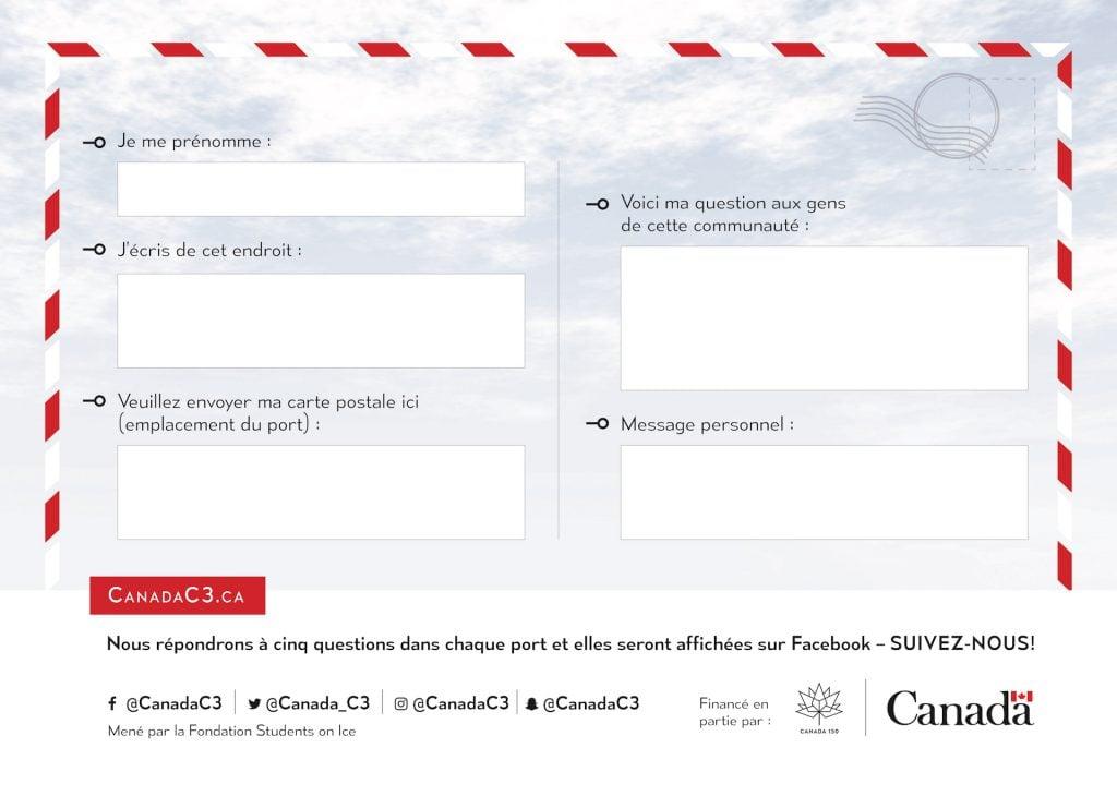 Carte postale de Canada C3