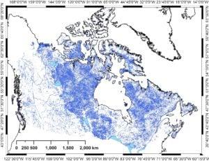 Empreintes digitales des rivières du Canada