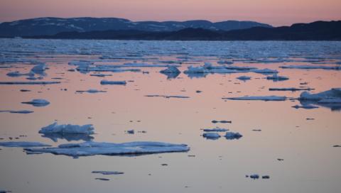 Observation de la glace durant l'étape 7
